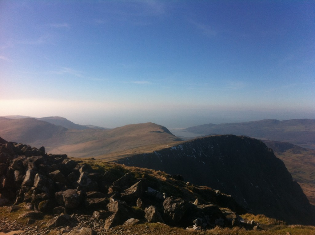 Cader Idris on an extraordinarily sunny February day